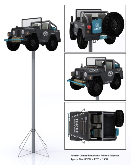 Tin Cup Jeep Pole Topper 01